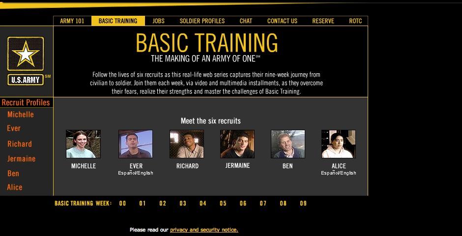 Nominee - US Army Basic Training