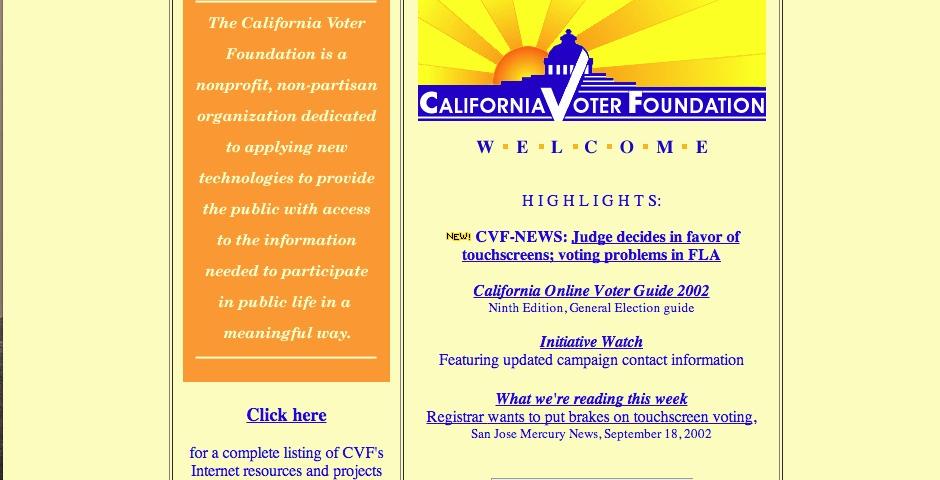 Nominee - California Voter Foundation