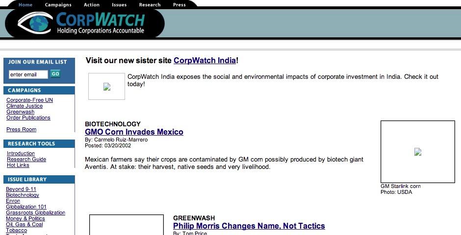 Nominee - CorpWatch.org