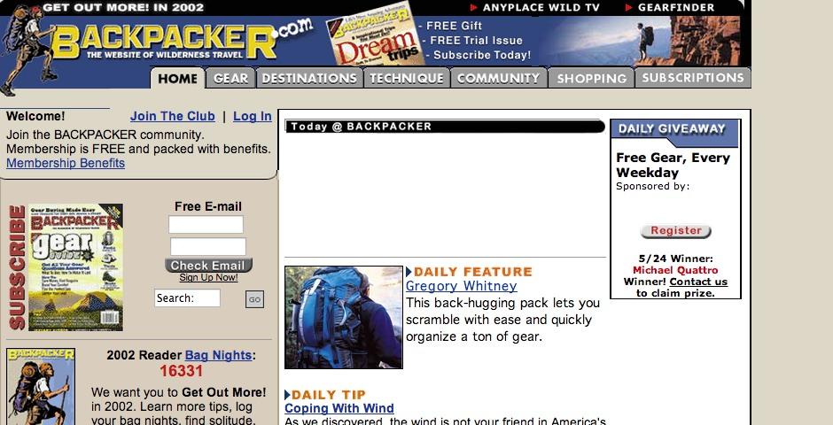 Nominee - Backpacker.com
