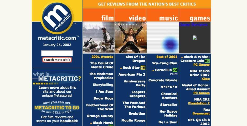 Nominee - Metacritic