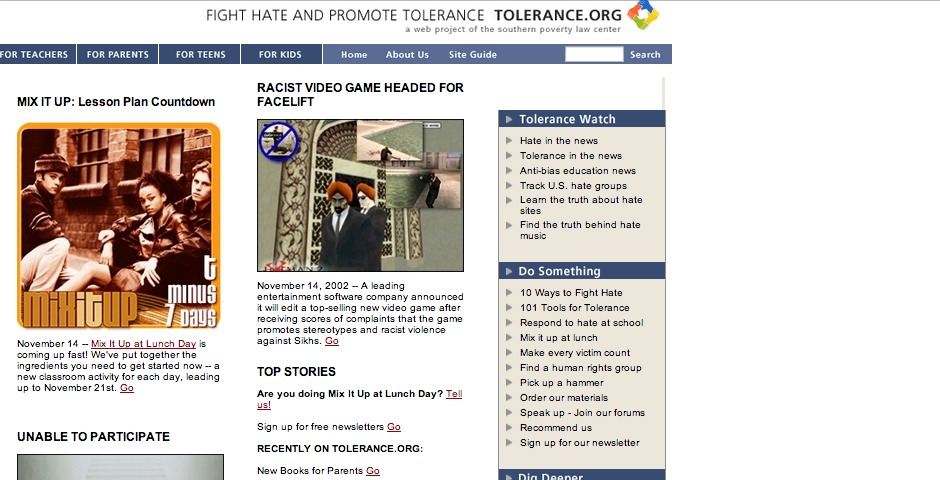 Webby Award Winner - tolerance.org