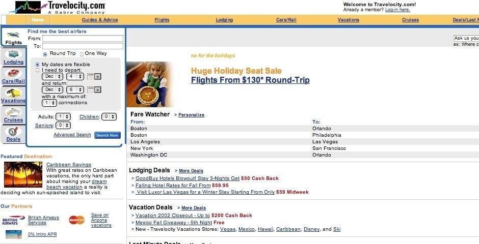 Webby Award Nominee - Travelocity.com