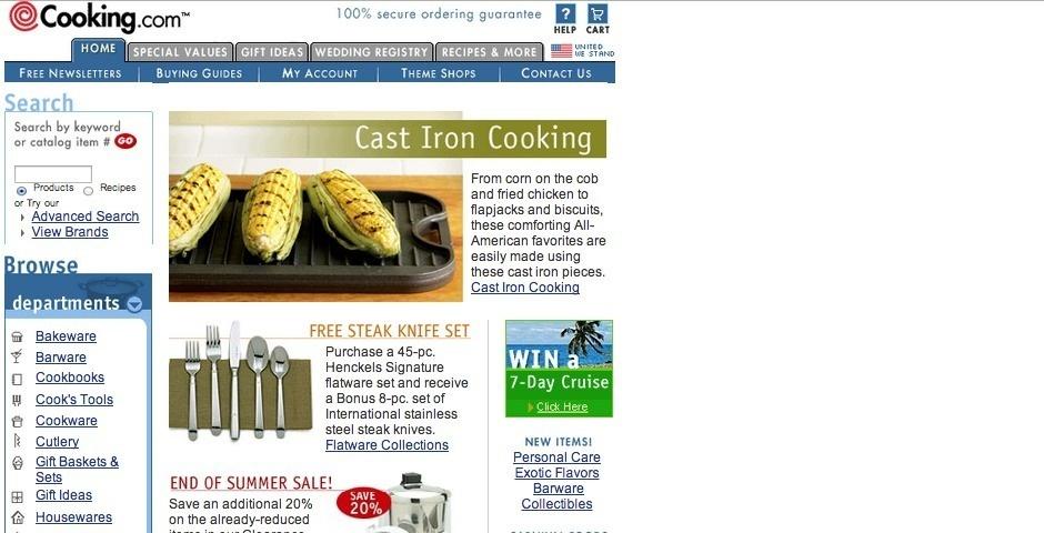Webby Award Nominee - Cooking.com