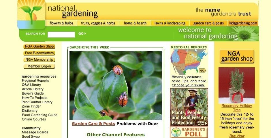 Webby Award Nominee - National Gardening