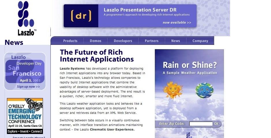 Webby Award Nominee - Laszlo Presentation Server