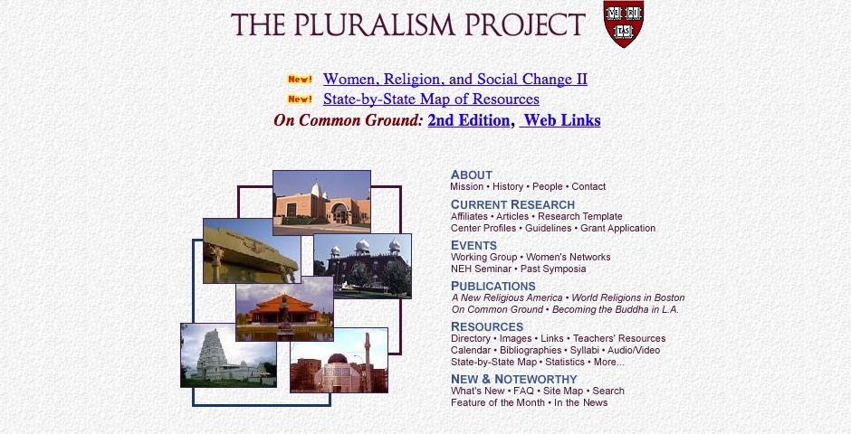 Webby Award Winner - Pluralism Project