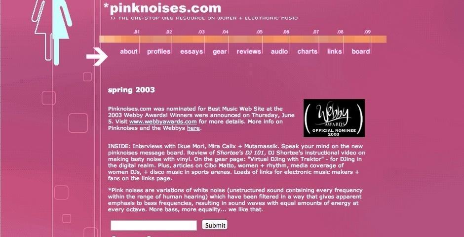Webby Award Nominee - pinknoises.com