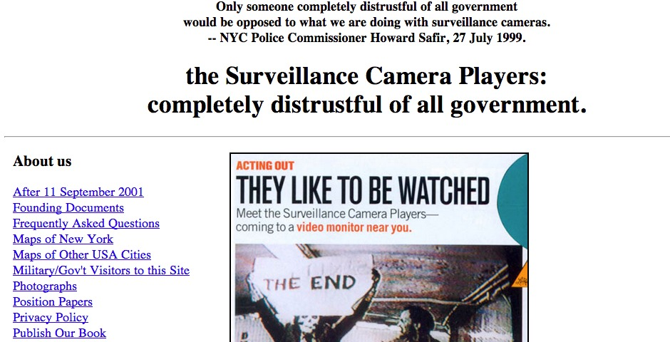 Nominee - NYC Surveillance Camera Players