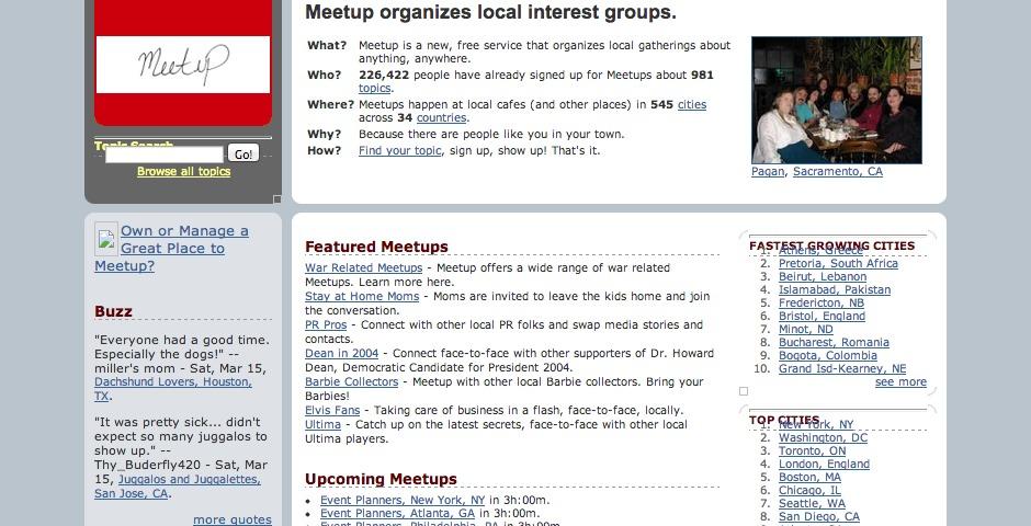 Webby Award Winner - Meetup