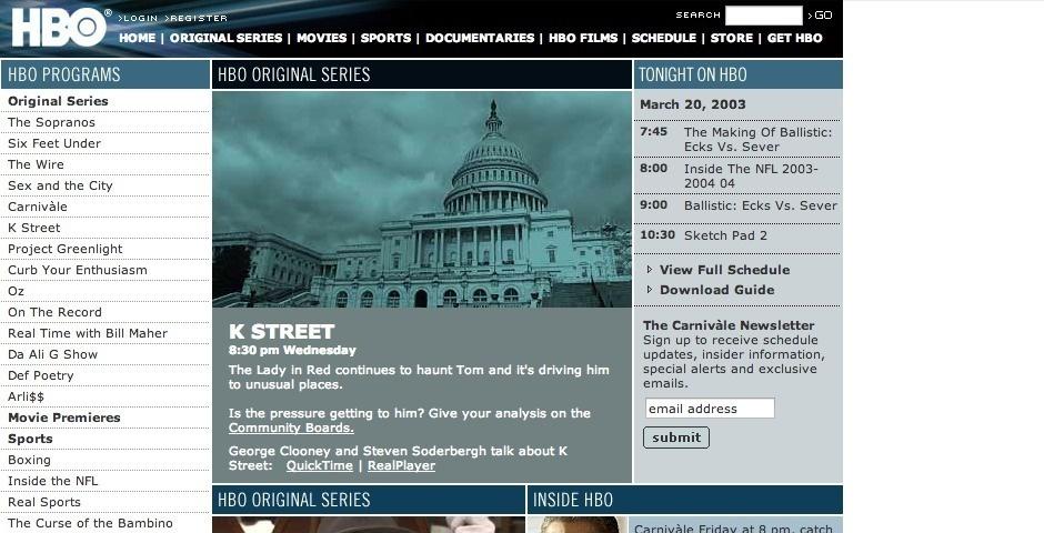 Webby Award Nominee - HBO Online