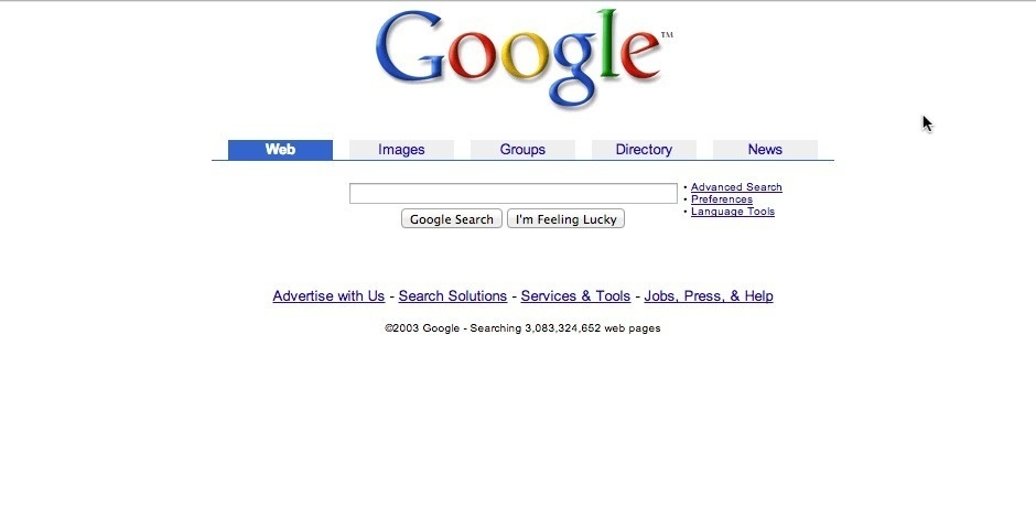 2003 Webby Winner - Google