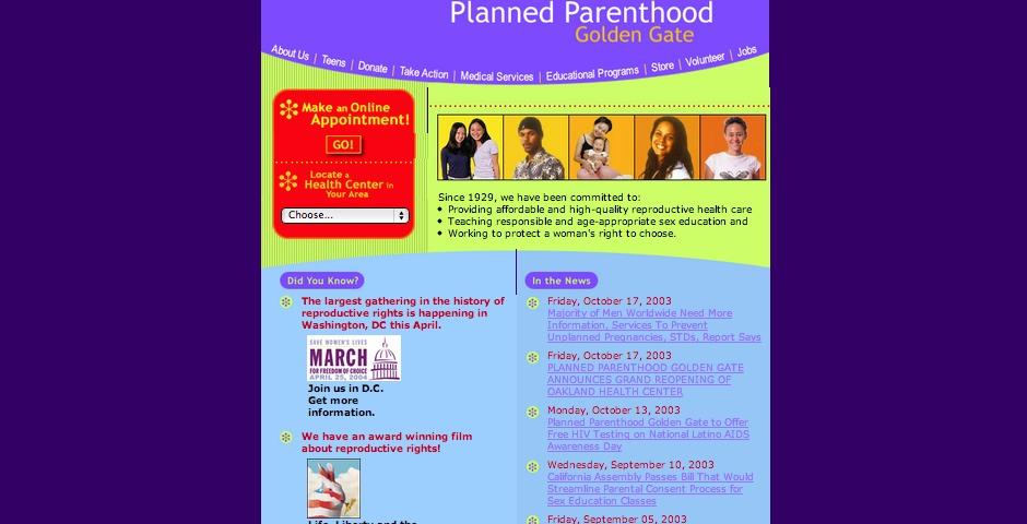 Nominee - Planned Parenthood Golden Gate