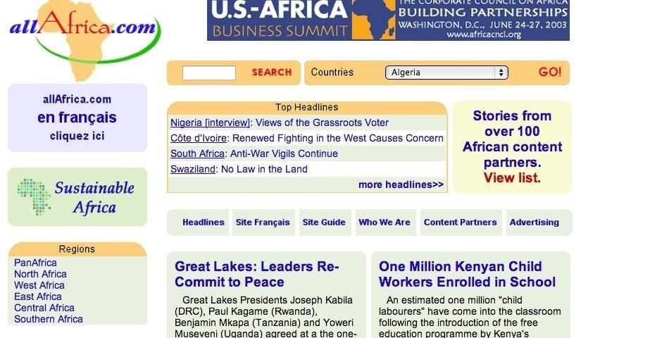 Webby Award Nominee - allAfrica.com