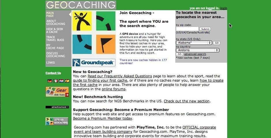2003 Webby Winner - Geocaching