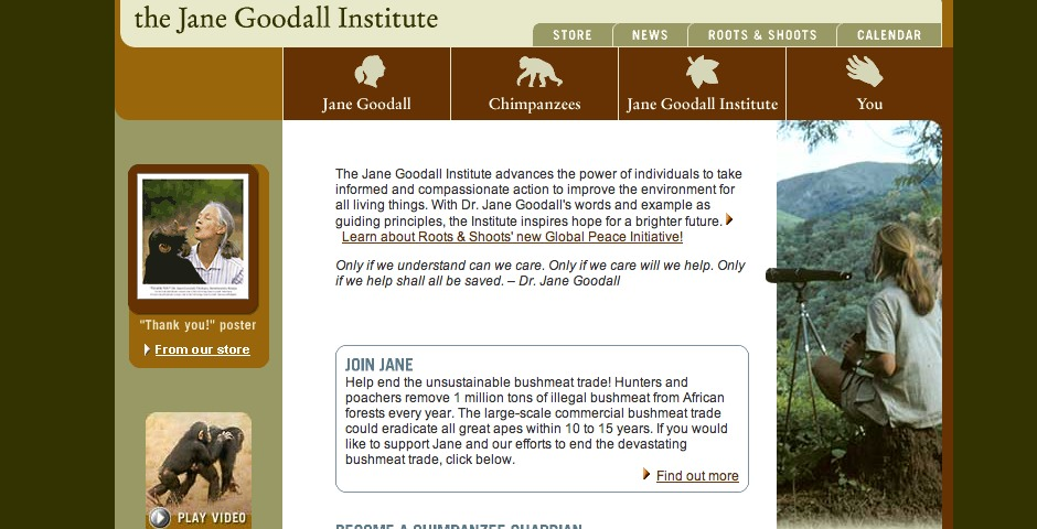 Nominee - The Jane Goodall Institute