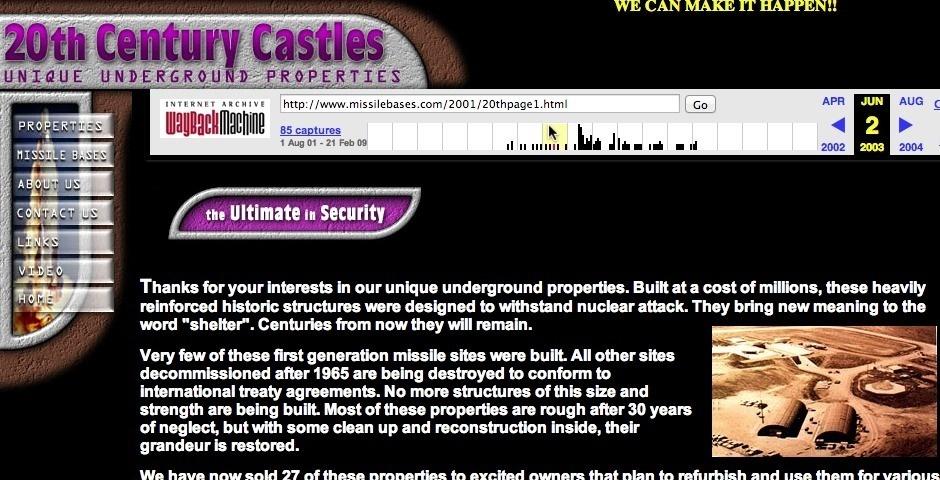 Webby Award Nominee - 20th Century Castles