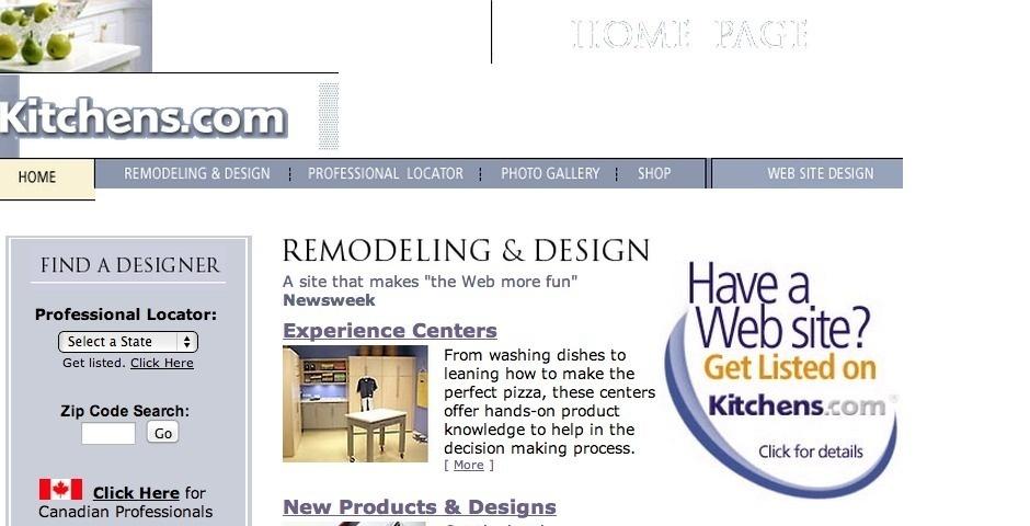 Webby Award Nominee - Kitchens.com