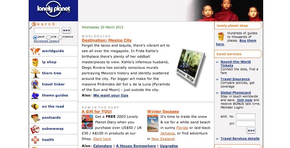 People's Voice / Webby Award Winner - Lonely Planet Online