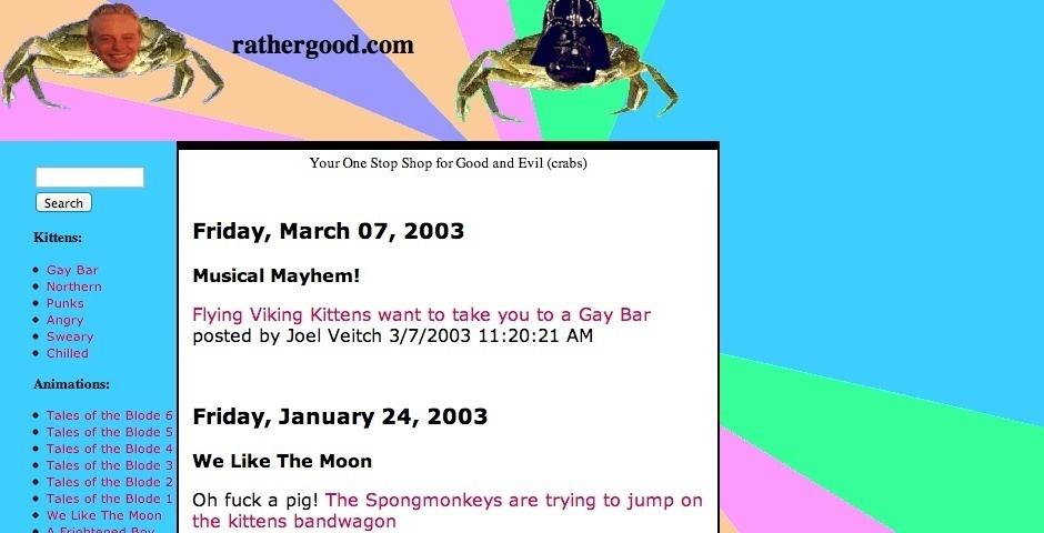 2003 Webby Winner - rathergood.com