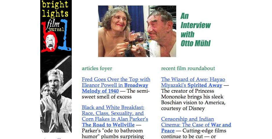 Nominee - Bright Lights Film Journal