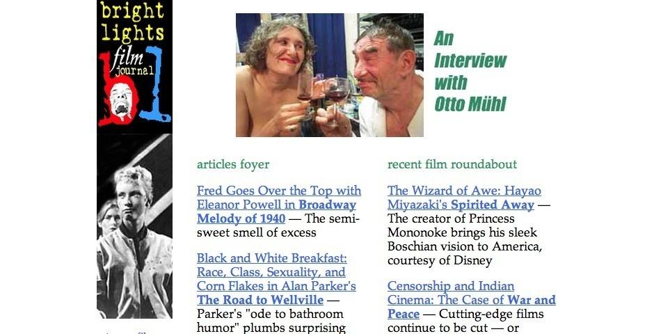 Webby Award Nominee - Bright Lights Film Journal