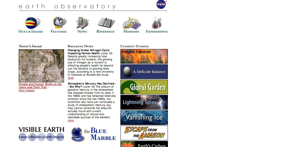 People's Voice / Webby Award Winner - NASA Earth Observatory