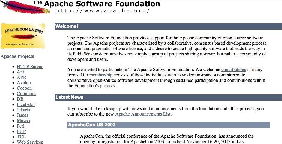 2003 Webby Winner - Apache Web Server