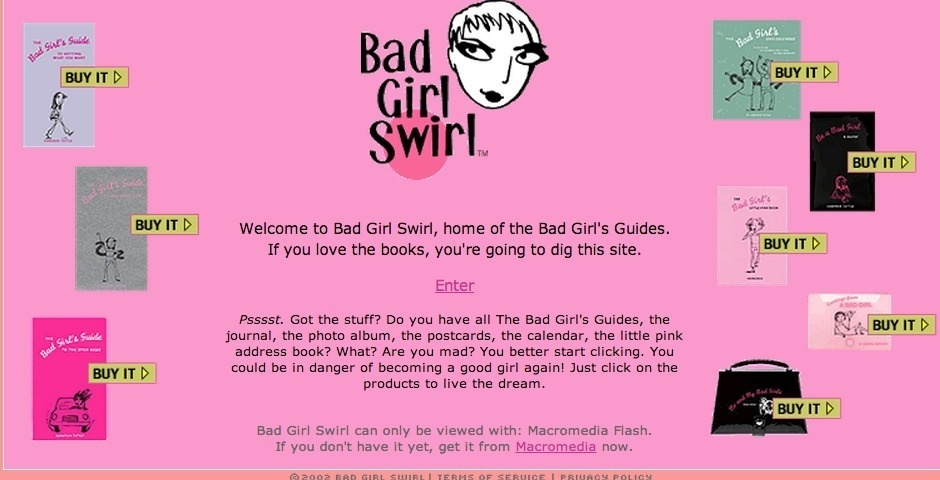 Webby Award Nominee - Bad Girl Swirl