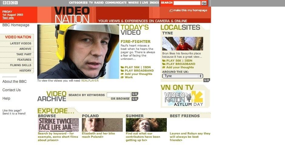 Webby Award Nominee - BBC Video Nation