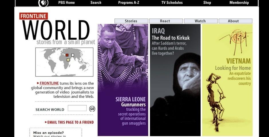 Webby Award Nominee - Frontline/World