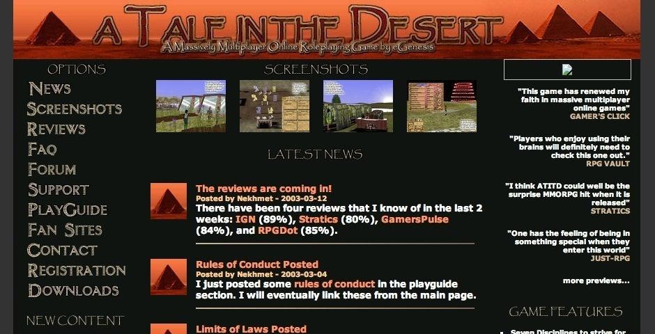 Webby Award Nominee - A Tale in the Desert