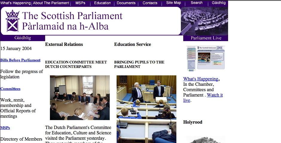 Webby Award Nominee - The Scottish Parliament