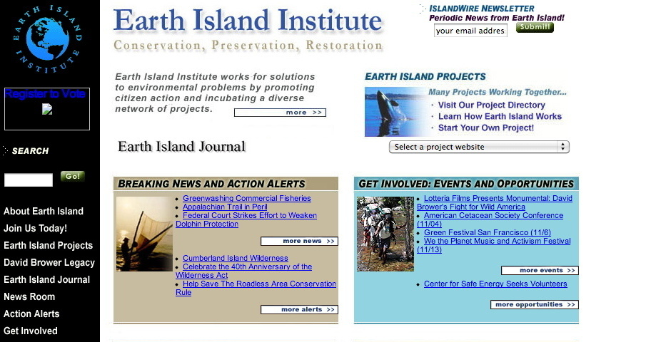 Webby Award Nominee - Earth Island Institute