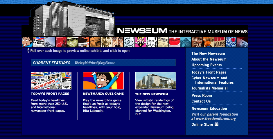 Nominee - Newseum – The Interactive Museum of News