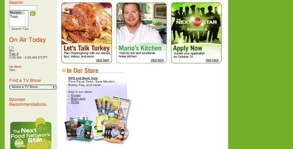 Webby Award Nominee - Food Network