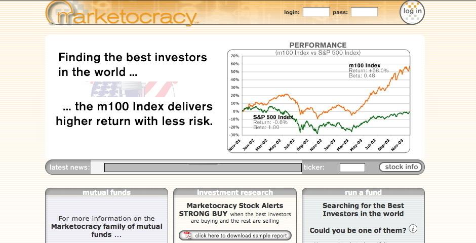 Webby Award Nominee - Marketocracy
