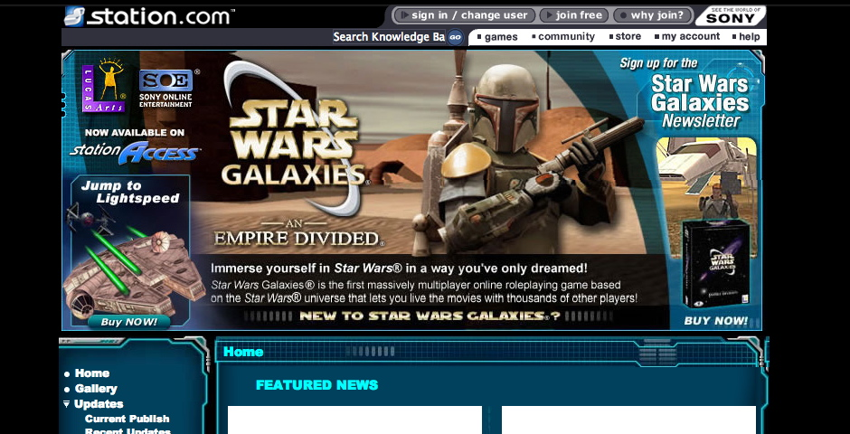 Nominee - Star Wars Galaxies