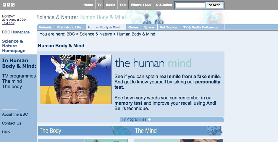 Webby Award Winner - BBC – Human Body