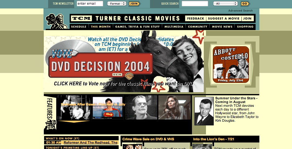 Nominee - Turner Classic Movies
