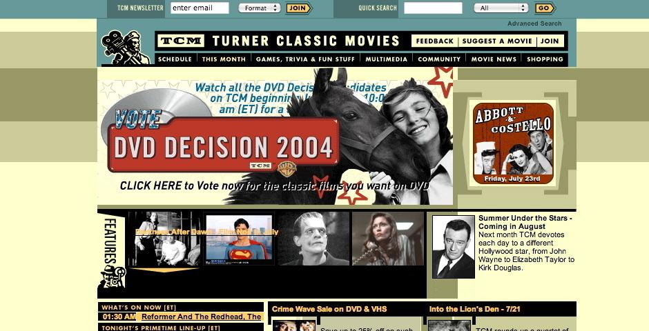 Webby Award Nominee - Turner Classic Movies