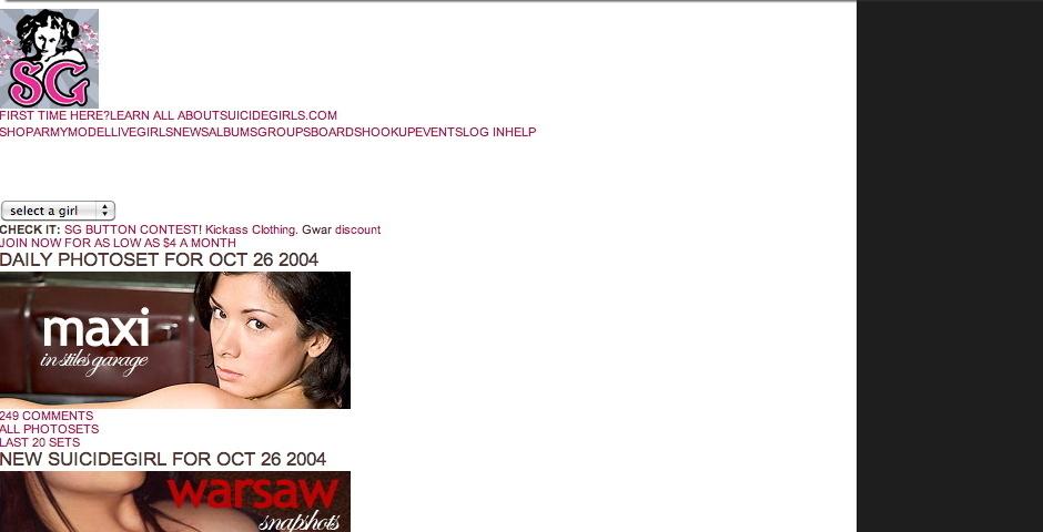 Webby Award Nominee - SuicideGirls