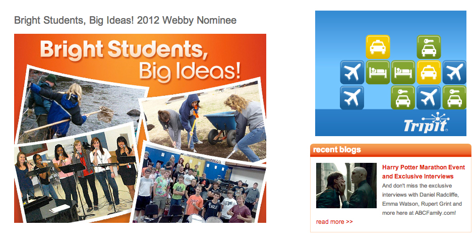 Nominee - ABC Family's Bright Students, Big Ideas