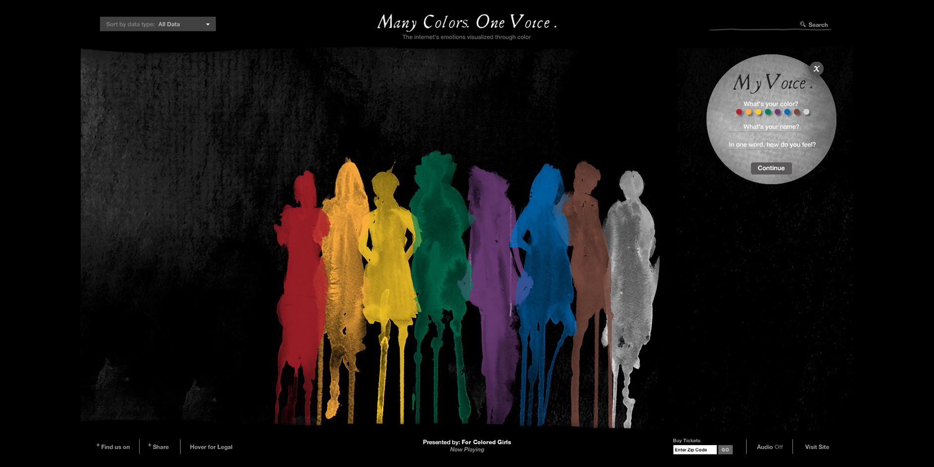 Webby Award Nominee - For Colored Gilrs: Many Colors. One Voice.