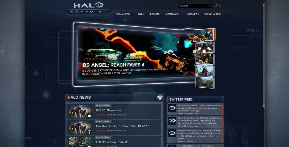 Nominee - Halo Waypoint Website