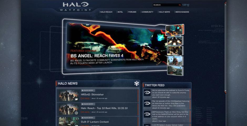 Webby Award Nominee - Halo Waypoint Website