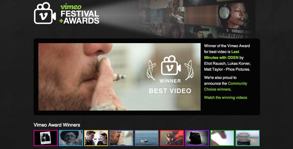 Webby Award Nominee - Vimeo Festival + Awards