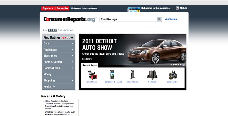 - Consumer Reports