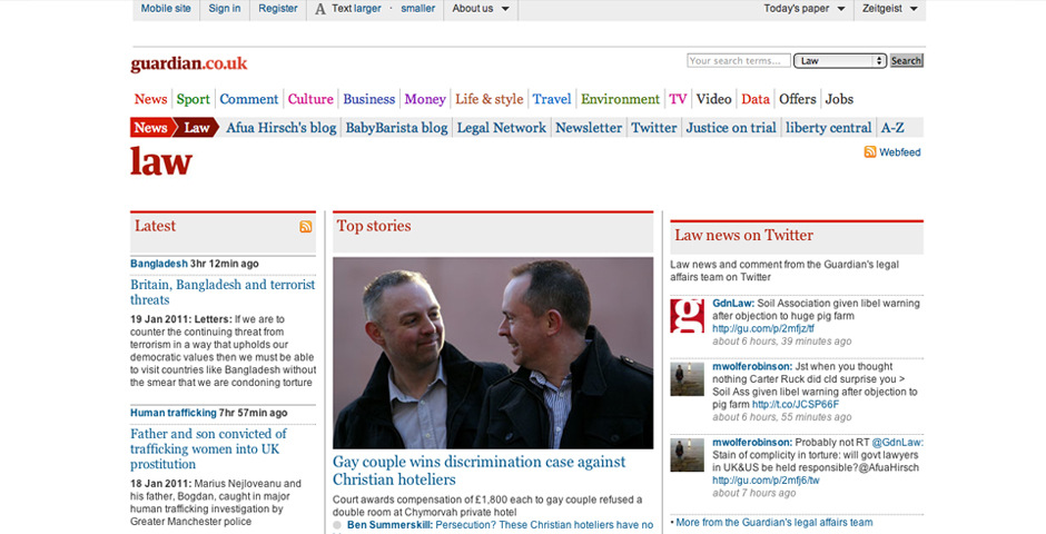 Nominee - guardian.co.uk/law