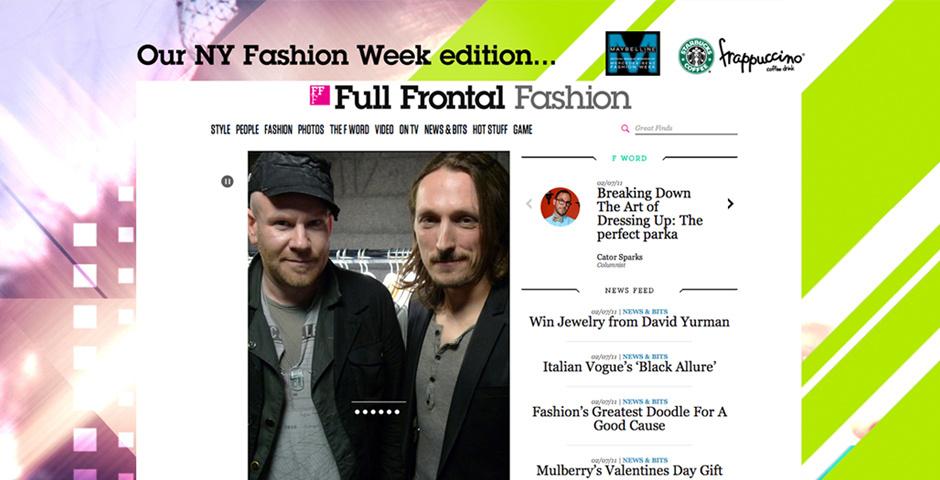 Webby Award Nominee - Full Frontal Fashion